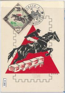 51363 - MONACO - MAXIMUM CARD - 1960 OLYMPIC GAMES in ROME: HORSE RIDDING