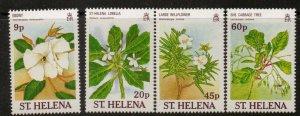 ST.HELENA SG531/4 1989 RARE PLANTS MNH