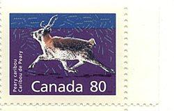 Canada - 1990 80c Caribou Ex. Booklet Single mint #1180a