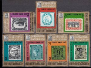 1967 Qu'aiti State in Hadhramaut 98-104 Exhibition stamps STAMPEX in London