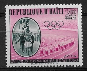 1960 Haiti C165  2.50g Olympics  MNH