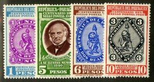 PARAGUAY 374-7 MH SCV $2.10 BIN $1.00