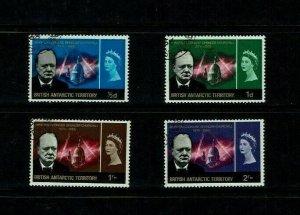 British Antarctic Territory: 1966 Churchill Commemoration, Fine used set.