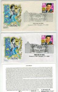 ELVIS PRESLEY SET OF 2 CCC COLOR VARIETIES + Text Cards Graceland Tennessee