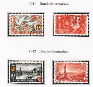 Switzerland Stamp 1941 // 42 used stamps lot