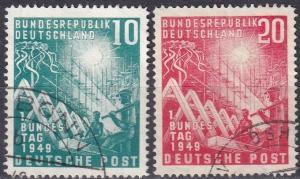 Germany #665-6 F-VF Used CV $36.00 Z485