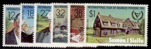 SAMOA QEII SG588-593, 1981 intl year for disabled persons set, NH MINT.