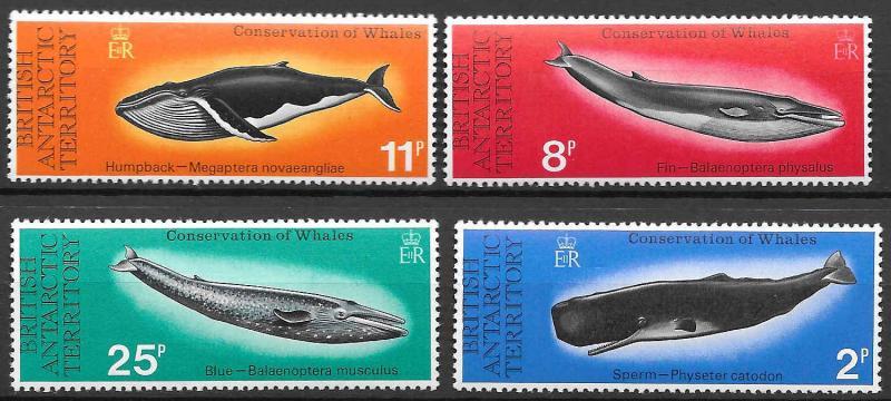 British Antarctic Territories BAT Whales Scott 64-67 VF NH Cat US$30