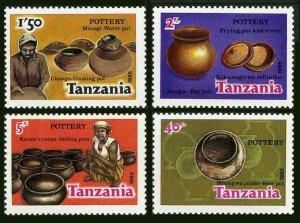 Tanzania 279-282,283,MNH.Michel 276-280. Pottery 1985.