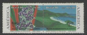 BRAZIL SG2111/2 1990 WORLD FOUND BY THE DISCOVERERS MNH
