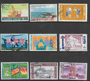 Thailand 9 Stamps Used - Mini-Collection
