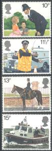 Great Britain 875-878 MNH - Police