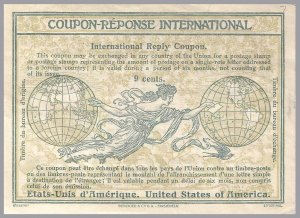 United States - 9c 1909 Rome frame IRC International Reply Coupon - Sc IRC7
