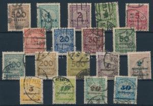 Germany stamp Definitive set Used 1923 Mi 313-330 A WS231786