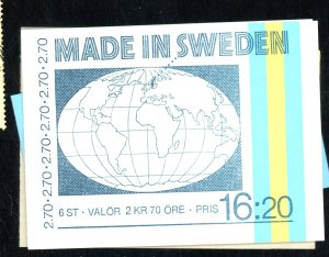 SWEDEN #1429A 1465A 1482A 1501A MINT BOOKLETS CAT $32