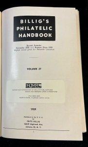 Billig's Philatelic Handbook  Volume 27 First Edition 1959
