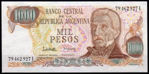 Argentina 1000 Pesos Banknote Uncirculated Mint General Jose de San Martin