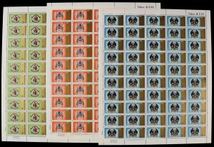 NEW ZEALAND : 1971 City Centenaries set sheets inc imprints. MNH **. Jury NZ £80