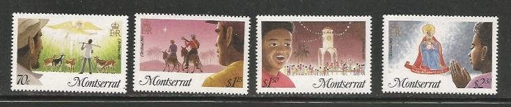 Montserrat MNH 588-91 Christmas 1985