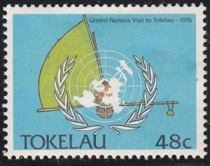 Tokelau Islands 154 UN Visiting the Island 1988