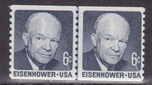United States # 1401, Coil Line Pair, Mint Never Hinged