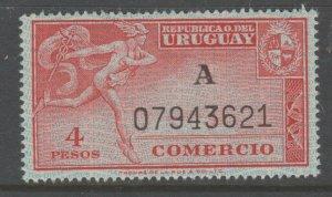 Uruguay revenue Fiscal stamp 10-9-20T MNH Gum a24
