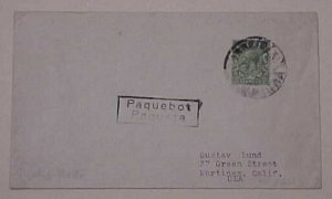 MOZAMBIQUE   GREAT BRITAIN USE PAQUEBOT #2725 BEIRA 1934
