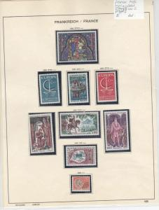 France 1966 MM+Used Stamps On 2 Pages Ref: R6804