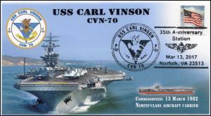 17-090, 2017, USS Carl Vinson, CVN-70, Aircraft Carrier, Navy, Event Cover