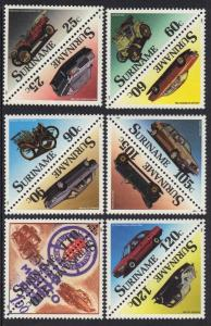 Surinam  #831-842  MNH   1989  Motor cars in  pairs