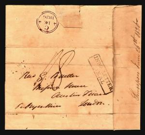 Straits Settlements EARLY 1826 Stampless Merchant Letter to London - Z14688