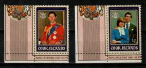 Cook Islands Scott 980-981 Mint NH (Catalog Value $33.00)