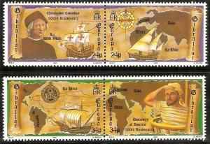 Gibraltar 1992 Europa #  611a-613a 500th Anniversary Discovery America MNH