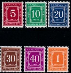 Tanzania 1973 SC J1c-J6c MLH Set