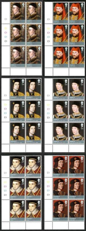 SG2812-17 2008 Kings and Queens Set in Cylinder Blocks of 6 U/M