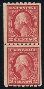 US Scott #411LP Mint, FVF, Lightly Hinged
