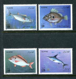 Algeria 902-905, MNH Marine Life, Fish 1989. x29346