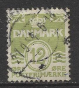Denmark - Scott 333 - Definitive Issue -1952 - Used - Single 12o Stamp
