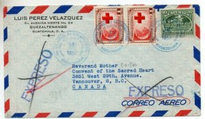 Guatemala: 1956 Express Air cover to Canada