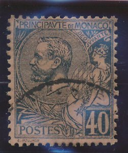 Monaco Stamp Scott #23, Used, Hinge Remnant