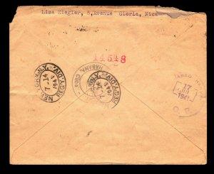 France 1941 Registered Cover to Havana / Light Edge Creasing - L11064