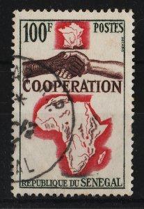 Senegal 1964 France-Senegal Cooperation 100F (1/1) USED