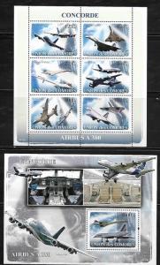Comoro Islands 1025-26 Aircraft Mint NH