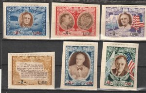 #257G-H-I,C51I-J-K San Marino Mint on paper lot #190821-9
