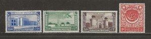 Pakistan Scott catalog # 20-23 Unused HR See Desc