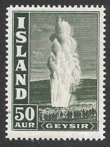Doyle's_Stamps: MNH 1938 Iceland 50 Aur Geysir, Scott #208**