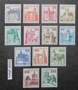 Germany 1231-42. 1977-79 10pf-230pf Castles, NH