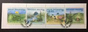 Belgium 1994 #1565a Unfolded booklet, Used/First day cancel
