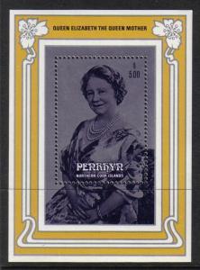 Penrhyn Islands #323 mint SS, Queen Mother 1985 issue