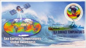 SC 4893, 2014 Sea Surface Temps, $1.15, Digital Color Postmark, FDC, Item 14-081